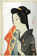 Hashiguchi Goyo Woman with Hand Towel