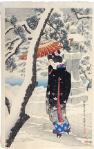 Ito Shinsui Snow at the Shrine