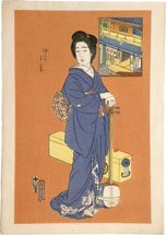 Natori Shunsen The Matsumoto Teahouse in Nakanomachi: The Geisha …