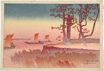 Ito Shinsui Evening Glow at Yabase