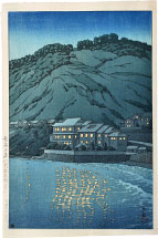 Kawase Hasui Evening in Atami, View from the Abe Inn