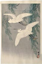 Ohara Koson Egrets and Willow