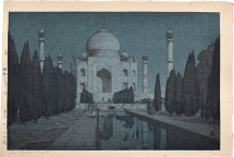 Hiroshi Yoshida The Taj Mahal Gardens at Night, From the India and…