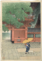 Kawase Hasui Early Summer Showers at Sanno Shrine