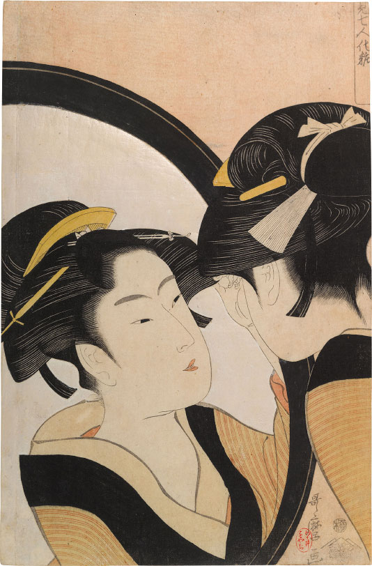 Kitagawa Utamaro Applying Make-up